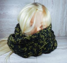 Camo Infinity Scarf Knitted Camo Scarf Unisex Infinity