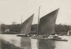 Trading wherries 1880s.