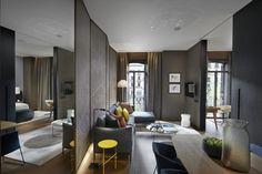 Wohnideen-Wandgestaltung-Maler - Luxus-Wohnideen aus Barcelona. Hotelgestaltung. Wohndesign.