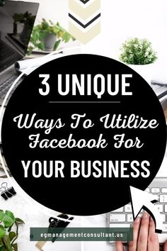 If you're considering turning to Facebook to help you market your company, then you need some Facebook Marketing tips. Here are three unique ways you can use the social media site to grow your business. EGM Consultant - Blogger, WordPress Expert, Web Designer, Techy Girl. I work with family focused entrepreneurs who run a business from home who struggle with keeping up with new digital marketing strategies #onlinebusiness #egmconsultant #facebook #facebookmarketing Using Facebook For Business, How To Use Facebook, Starting A Business, Online Business, Social Media Page Design, Social Media Site, Social Media Content, Digital Marketing Strategy, Marketing Strategies