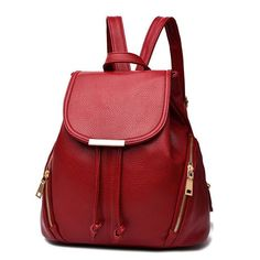 YINGPEI Women Backpack PU Leather Bag Mochila Feminina School Bags for Teenagers Teenagers Laptop Notebook Black White