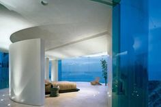 Tony Stark's over the top cliff top house interior. http://thechive.com/2011/05/10/the-iron-man-house-is-on-the-market-for-25-million-15-photos/