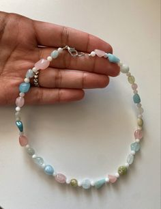 Funky Jewelry, Handmade Beaded Jewelry, Cute Jewelry, Jewelry Accessories, Jewelry Design, Unique Jewelry, Crystal Bead Necklace, Beaded Choker, Ring Necklace