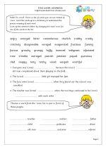 Cross words vocabulary