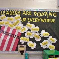 Decorating bulletin boards is very fun for the teacher to do, and for the students to see their name underneath the word leader would drive them to succeed and work harder.