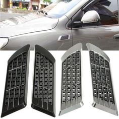 Universal DIY Car Air Flow Intake Vent Hood Cover Bonnet Fender Grill Decoration. Pair Diy Car Air Flow Intake Vent Hood Bonnet Fender Grill Decoration Universal    brand New!    description:    color: Chrome, Black  material: Abs Plastic  quantity: 1 Pair  fashionable, Attractive, Enhance The Impression Of Your Car.  easy To Install With Sticker  fit For Most Car, You Can Stick This On Any Part Of Car Surface    package Included:     1 Pair Car Air Flow Intake Vent Hood Decoration