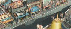TekkonKinkreet Background Paintings | Articles & Texticles