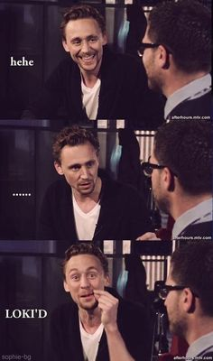 LOKI'D!! This makes me smile every time I think of the outtakes video.