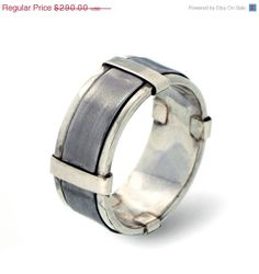 HOLIDAY SALE - MENS Wedding Band, Sterling Silver Wedding Band, Stainless Steel band, 9mm Wide Band Ring on Etsy, $255.65 AUD