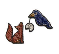 broche corbeau renard - Macon et Lesquoy
