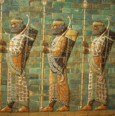 Photo about Babylonian archers, Assyrian mosaic tiles, museum in Berlin Germany. Image of arrow, soldier, historical - 6895097 Ancient Mesopotamia, Ancient Civilizations, Historical Artifacts, Ancient Artifacts, Carthage, Cradle Of Civilization, Ancient Near East, Tile Murals, Greek Art