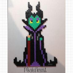 Maleficent hama beads by tbroddle