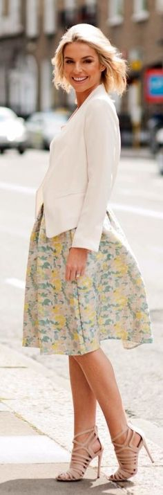 Pippa Yellow Floral Midi Skirt