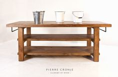 A Pierre Cronje Loft Kitchen Island with Towel Rails in French Oak & Hard Pear