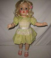 "1950's Ideal 16"" HP Platinum Blonde Toni Doll in Original Dress  P-91   MK72"