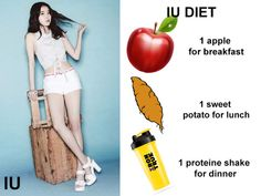 The secret of how Corean singer⭐ IU lose her weight. All about IU diet with pictures and videos. Do you want to lose weight fast? Loose Weight Meal Plan, How To Lose Weight Fast, Kpop Diets, 1000 Calorie Meal Plan, Iu Diet, Kpop Workout, Skinny Diet Plan, Diet Schedule, Flat Belly Foods