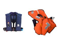 The Secumar Alpha 275 3D life jacket is recommended for wearers of immersion suits, insulated clothing or survival suits: Two triangular air chambers form a long lever which quickly turns the body into a safe position on your back.