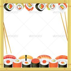 Sushi Frame Vector Background  #GraphicRiver         Sushi frame with rolls, bamboo mat and chopsticks     Created: 29October13 GraphicsFilesIncluded: PhotoshopPSD #JPGImage #VectorEPS Layered: No MinimumAdobeCSVersion: CS Tags: asia #asian #background #bamboo #cheese #composition #cuisine #diet #dinner #east #eat #fish #food #frame #gourmet #health #healthy #japanese #lunch #mat #meal #raw #restaurant #rice #roll #sauce #seafood #sushi #sushiroll #vector