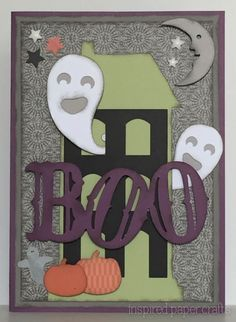 Boo – Halloween Card Made with the Cricut Artistry Cartridge