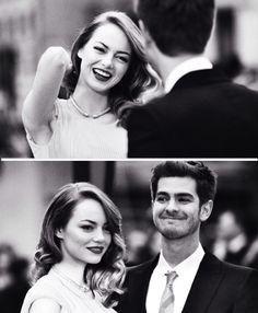 andrew garfield and emma stone, real-life couple. Cutest Couple Ever, Best Couple, Pretty People, Beautiful People, Emma Stone Andrew Garfield, Perfect Together, Amazing Spiderman, Famous Faces, Cute Couples