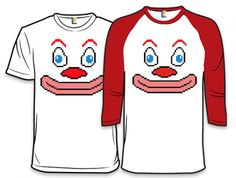 (8-b)It, An Incredibly Creepy Clown Shirt Designed by Wil Wheaton and Diesel Sweeties