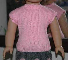 Ravelry: American Girl Doll Knitted Top pattern by Elaine Phillips Free Pattern