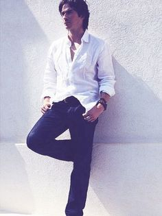 Ian Somerhalder love a white shirt on a man!