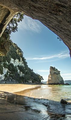 Coromandel Sea Arch - NZ Small town where ARF had his Hidden Garden place - about 1 mile from here