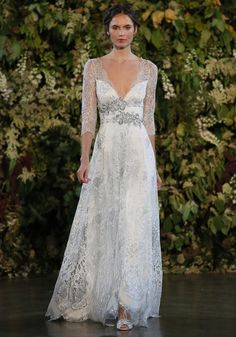 The Gothic Angel bridal fashion collection by LA based designer Claire Pettibone, for White Bridal Dresses, Lace Wedding Dress, 2015 Wedding Dresses, Gorgeous Wedding Dress, Designer Wedding Dresses, Bridal Gowns, Wedding Gowns, Wedding Blog, Claire Pettibone