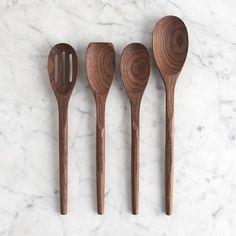 Williams-Sonoma Walnut Wood Spoons, Set of 4 #williamssonoma