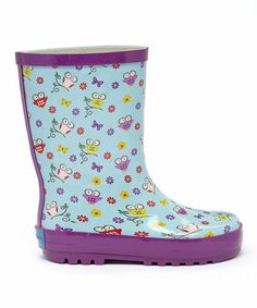 Loving this Purple Oh La La Owl Rain Boot on #zulily! #zulilyfinds