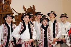 Embroidery motif on the vests: folk costume of Zagórzanie (inhabitants of the region around the town of Mszana Dolna), Poland.