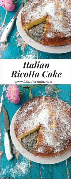 Ricotta Cake Recipe with Orange Cranberry Sauce | CiaoFlorentina.com @CiaoFlorentina