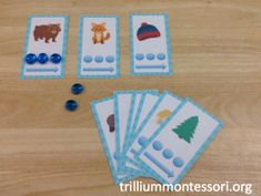 Segmenting & Blending Phonemes Activity for Book, The Mitten by Jan Brett (from Trillium Montessori)