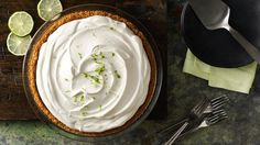 Adding whipped topping to this Florida favorite makes for a lighter, fluffier pie filling.  Yum!