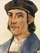Dit is Bartholomeus Diaz, hij was een Portugees zeevaarder en ontdekkingsreiziger, die in 1488 als eerste Europeaan Kaap de Goede Hoop rondde. Daarmee bereidde hij de eerste tocht naar India door Vasco da Gama voor