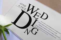 Wedding Ideas and Inspiration. Using a combination of black and white, neutrals and transparent. High quality unique papers creating a sleek polished finish. Part of the 'EDITORIAL EXCELLENCE' collection by Paper Date.