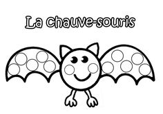 la chauve-souris à gommettes Theme Halloween, Halloween 2018, Halloween Crafts, Happy Halloween, Do A Dot, Nocturnal Animals, Halloween Pictures, Infant Activities, Fall Crafts