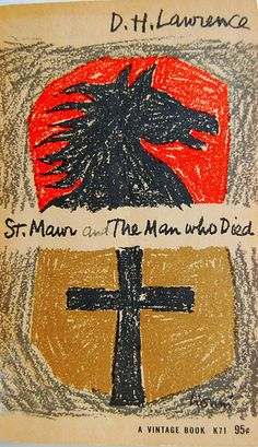 Book cover design by Leo Lionni for St. Mawr, and The Man Who Died by D. H. Lawrence.
