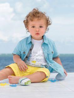 #Chemise manches courtes bébé garçon - Collection Printemps été 2014 www.vertbaudet.fr
