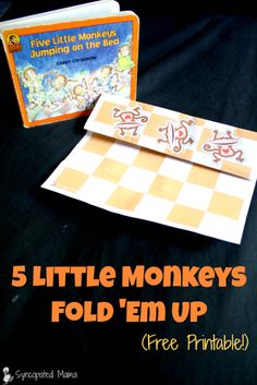 """An easy, FREE printable that's the perfect complement to the beloved """"Five Little Monkeys Jumping on the Bed"""" book."""
