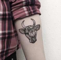 taurus zodiac tattoo on arm