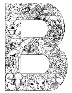 Alphabet Animal Coloring Pages B