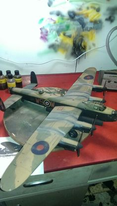Tamiya Avro Lancaster, modeller Arron Parry (that's me) School Exhibition, Lancaster Bomber, Hawker Hurricane, Hobby Kits, Military Modelling, Ww2 Aircraft, Royal Air Force, Model Airplanes, Model Building