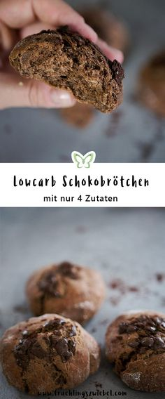 Die Lowcarb Schokoladen Brötchen schmecken durch das Schokoprotein so lecker nach Schokolade und haben dabei nur 135 Kalorien pro Stück. Genießen ohne Reue und das Rezept geht schnell und einfach.