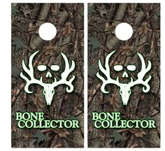 Bone Collector Camouflage Hunting Cornhole by CornholeGraphics