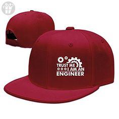 e29c41b90abc15 Trust Me I m An Engineer Baseball Snapback Cap Red ( Amazon Partner-