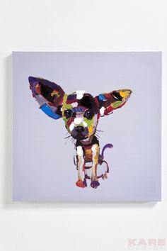 Cuadro Al Óleo Chihuahua 50x50cm