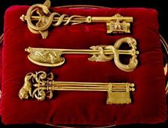 Jesus told Peter that he was going to give him the Keys to heaven. Ch 16:11