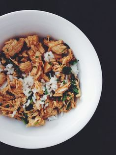 southwest chicken and cilantro lime rice // summer harms (she's got the best recipes!)